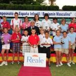 Las ganadores de los diferentes campeonatos de España infantiles posando