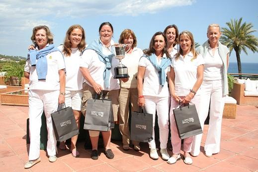 Equipo del R.C:G.El Prat, vencedoras de la Liguilla